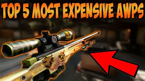 CS:GO - TOP 5 MOST EXPENSIVE AWP SKINS! - YouTube