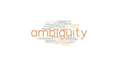 AMBIGUITY: Synonyms and Related Words