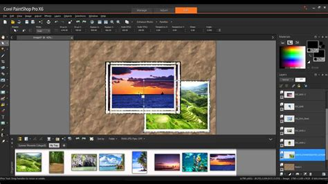 Creating a Photo Collage in Corel PaintShop Pro X6 - YouTube