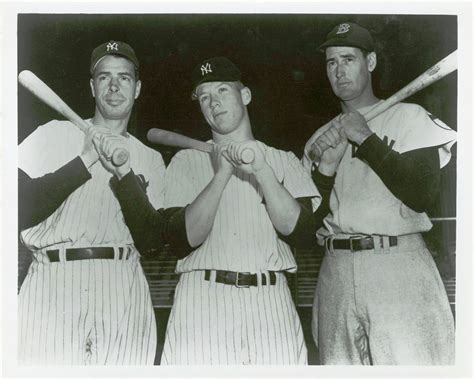 Lot Detail - 1952 Joe DiMaggio, Mickey Mantle and Ted