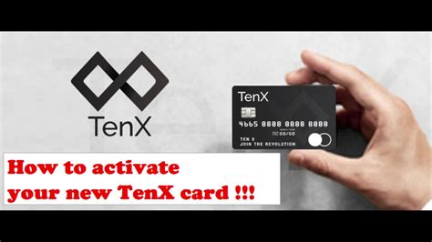 New!!! How to activate your New TenX Card !!! - YouTube