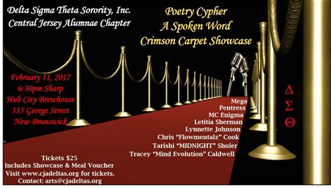 Poetry Cypher - Central Jersey Alumnae Chapter of Delta