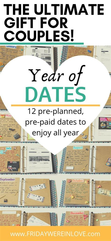 Year of Dates Gift: 12 Pre-Planned, Pre-Paid Dates to
