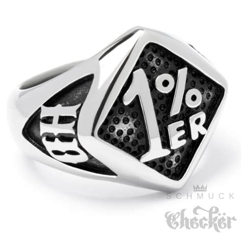 Onepercenter Ring Solid Stainless Steel Silver Outlaw