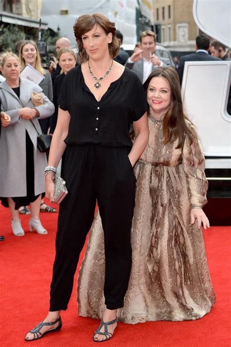Miranda Hart TOWERS over co-star Melissa McCarthy as they