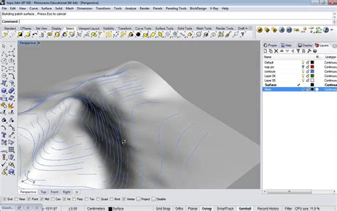 04_extra - Rhino Topography from contours - YouTube