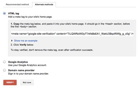 How to Verify Your Site for Google Search Console - Jimdo
