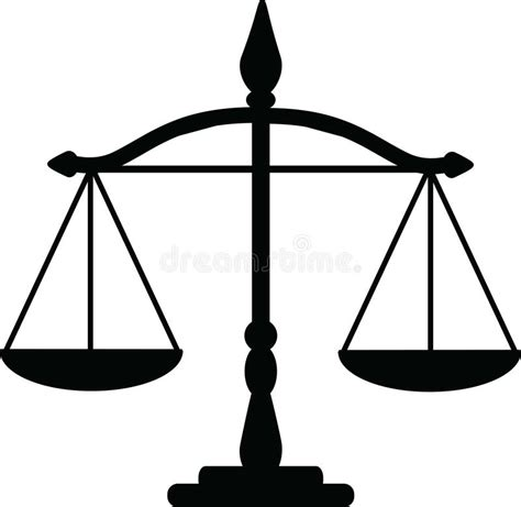 Justice scales stock vector