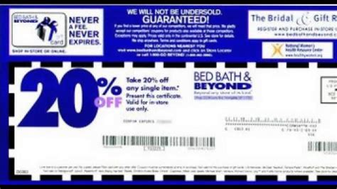 Bed Bath and Beyond Coupon code - YouTube