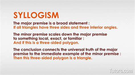 Law of Syllogism (Definition, Examples, & Video) // Tutors