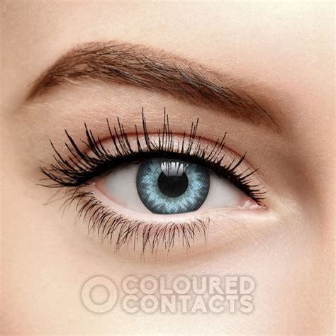 Blue Circle Colored Contact Lenses, Limbal Ring Enhancement