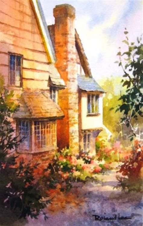 Step by Step Painting an English Cottage – Roland Lee