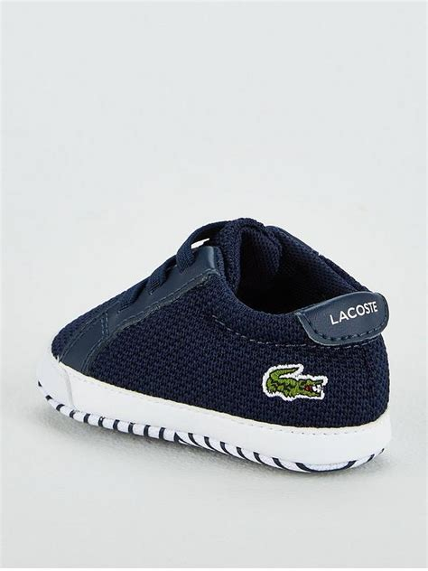 Schuhe Lacoste Baby Shoes Crib Size 1 2 3 Navy White