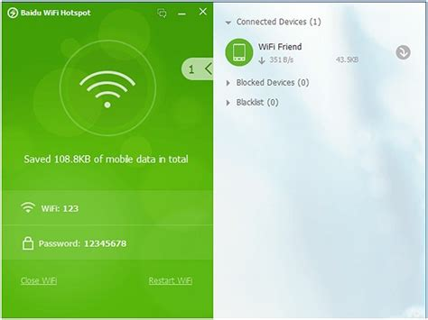 Make a multi-device WiFi hotspot out of your PC with Baidu