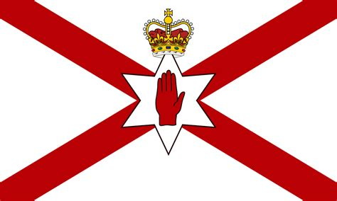 File:Saint Patrick's flag for Northern Ireland crowned