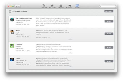 Open the Mac App Store Updates Section from a URL