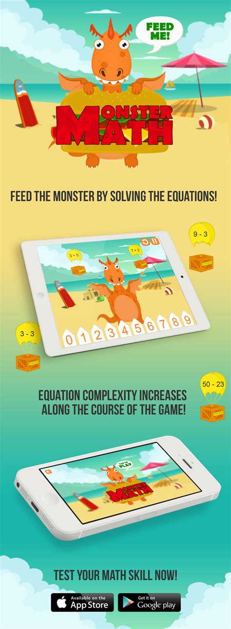 Monster Math- Educational and Interactive app for Kids