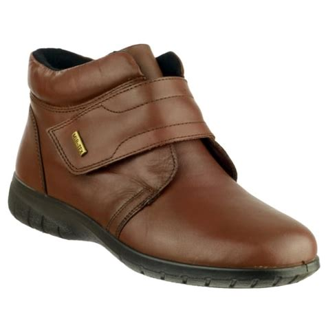 Cotswold Womens Chalford Brown Velcro Ankle Boots