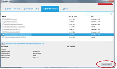 SCCM 2012 R2 Application Uninstall Button is Grayed Out
