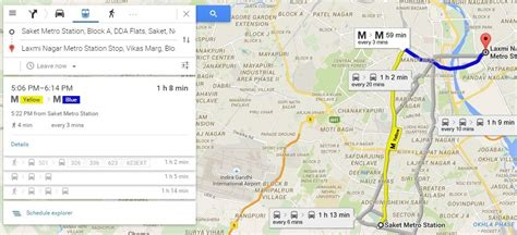 Google Map Route Planner - Find live public transit and