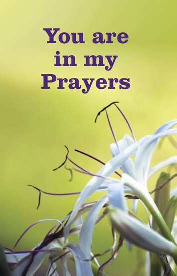 You are in my prayers   Lutheran Tract Mission (LTM)