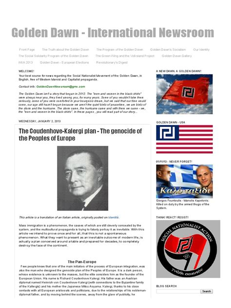 The Coudenhove-Kalergi Plan - The Genocide of the Peoples