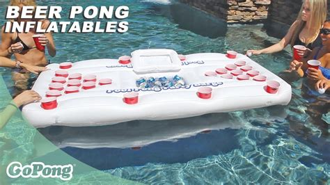 GoPong   Party Barge™ Inflatable Beer Pong Table - YouTube