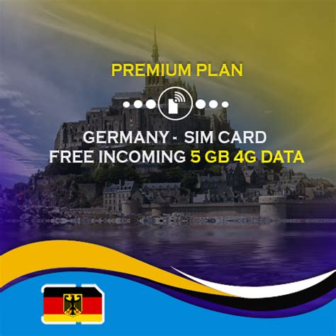 Germany SIM Card for Tourists Premium Plan with 5 GB Data