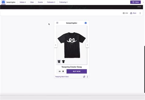 Teespring x Twitch Extension: Streamlabs OBS Alerts