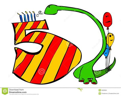 Happy Birthday You All 5 Years Old Boys Stock Illustration