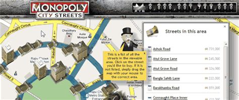 Play Monopoly City Streets Game Online on Google Maps
