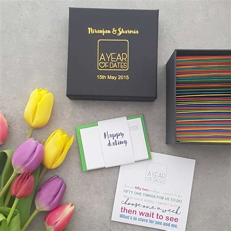 Personalised Box of Dates - Inspirational date night ideas