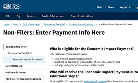 IRS launches tool for nonfilers to receive stimulus