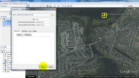 Google Earth_Change the coordinate system to UTM - YouTube