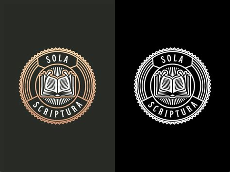 Sola Scriptura (Inverted) by Peter Voth | Dribbble | Dribbble