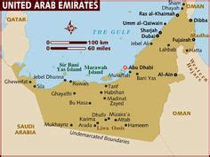 outline map of uae with 7 emirates - Google Search