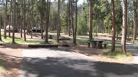 Yellowstone National Park Madison Campground-loop G - YouTube