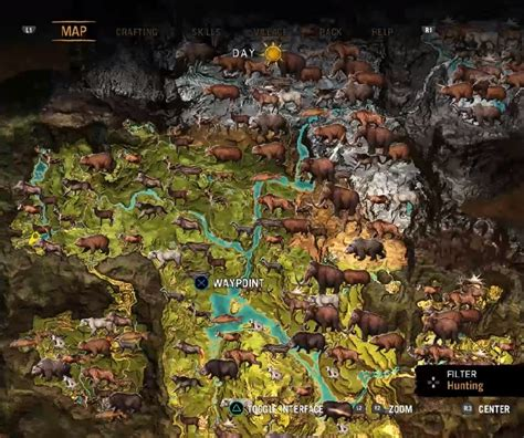 Far Cry Primal: Where to Find all 17 Animals and How to