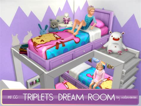 Triplets Dream Room by Waterwoman at Akisima » Sims 4 Updates