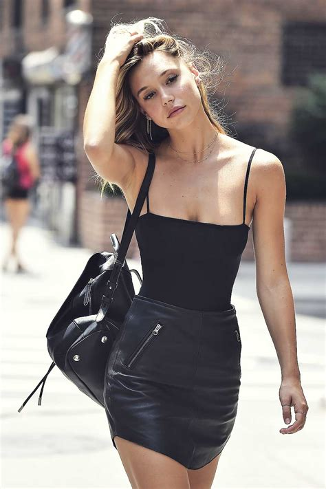 Alexis Ren out in NYC - Leather Celebrities