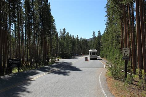Madison Campground Map, Pictures and Video Yellowstone