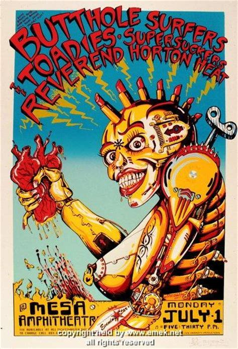 1996 Butthole Surfers & Reverend Horton Heat Poster by